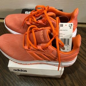 Adidas orange cloud sneakers sz 7 1/2 NWB